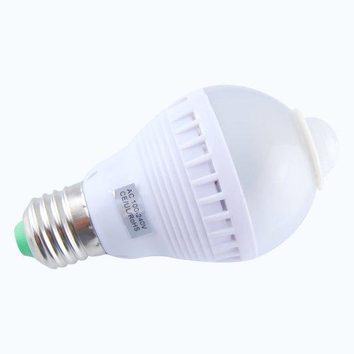 E27 PIR Motion Detector Sensor LED Light Bulb Lamp For
