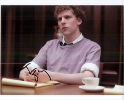 Eisenberg, Jesse (The Social Network) Autographed/Hand Signed 8×10 Photo