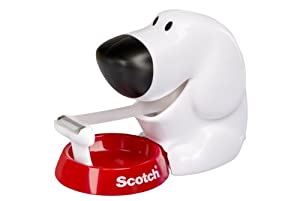 Scotch 19mm x 7.5m Dog Dispenser with 1 Roll of Scotch Magic Tape