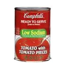 Campbells Ready To Serve Low Sodium Tomato Soup With Tomato Pieces - 7.25 Oz. Can, 24 Per Case