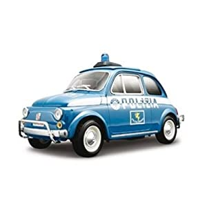 Fiat 500 Police Diecast Model 1/18:Amazon:Toys & Games