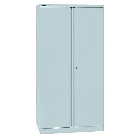 Bisley dos puerta A722W00 Gris claro se vacía (sin mobiliarios interno) 1806 mm, color plata