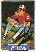 Brad Mills Montreal Expos 1982 Fleer Autographed Hand Signed Trading Card. by Hall+of+Fame+Memorabilia