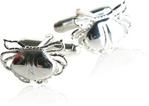 Sterling Silver Crab Cufflinks by Cuff-Daddy