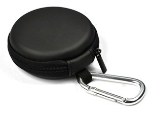Case Star Clamshell Style Black PU leather Earphone