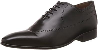 Hush Puppies Men's Elan One Piece Perfo Black Leather Formal Shoes - 8 UK/India (42 EU)(8246846)