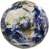 Earthball Inflatable Earth Globe from satellite images Glow in the Dark Cities