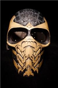 Mortal Kombat Scorpion Army of TWO Mask Paintball Airsoftbb Dj Club Party Cosplay