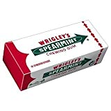 Wrigley's Spearmint Chewing Gum 15 Sticks 39G x Case of 14