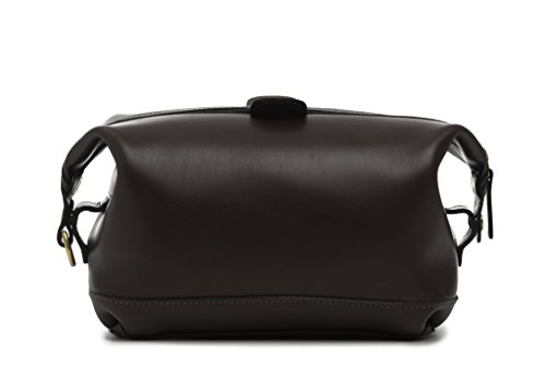 korchmar-lux-ryder-top-zip-toiletry-kit-l1217coffee