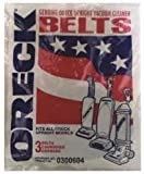 Oreck XL 3-pack Upright Vacuum 1 Belts # 030-0604