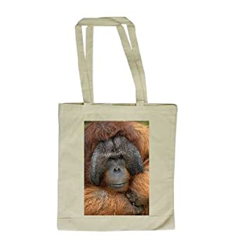 Benjamin the Orangutan at Dudley Zoo. - Long Handled Shopping Bag