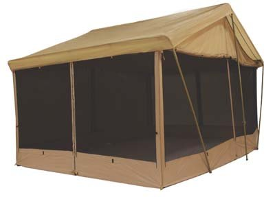 8 AWNING CANVAS SCREEN HOUSE CABIN TENT By Trek Sleeps 9