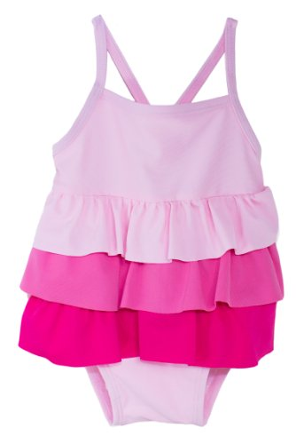 Baby Boutique Baby Girl S Pink Ruffle Bathing Suit With