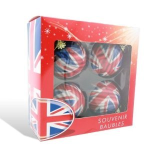 Union Jack Christmas Baubles