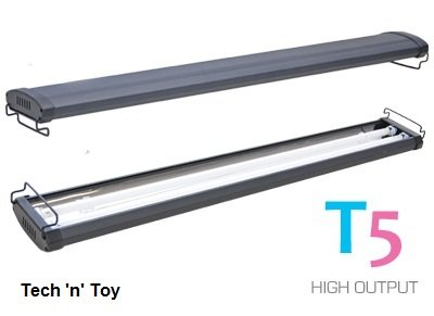 "Odyssea 36"" T5 HO Aquarium Light Dual Fluorescent Hood Fixture - Marine 2x39W"