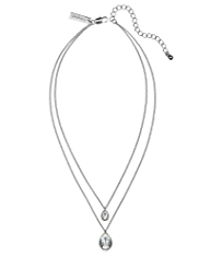 Autograph Double Pear Pendant Necklace MADE WITH SWAROVSKI® ELEMENTS