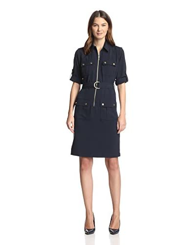 Sharagano Women's Shirt Dress with Pockets