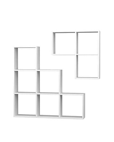 Homemania  Libreria 2 pezzi Portion Bianco