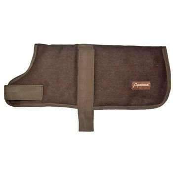 ABO Gear Wool Dog Coat, Chocolate Brown, Large