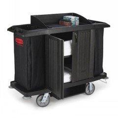 C-Housekeeping Cart W/Dos & Vinyl Bag,Black (1) front-527697