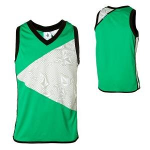 Volcom Mens Green Tanktop Stone Cold