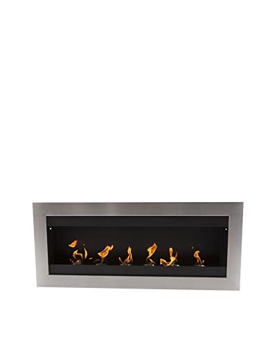 Kardiel EcoPyro Hogadon Wall Inserted Ethanol Fireplace, Black