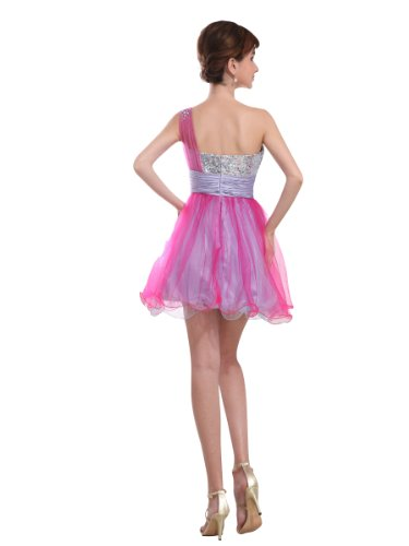 31lpBrTRhuL Buy: Topwedding two tone Tulle One Shoulder Strap Sequined Graduation Dress