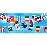 連続万国旗 20ヵ国[ポリエチレン製]