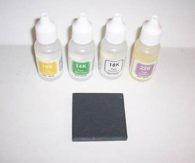SCRAP GOLD BUYING/SELLING KIT-Test 10K 14K 18K 22K Jewelry Coin-VALIDATE PURITY