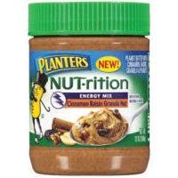 Planters Nut-rition Energy Mix Peanut Butter, 12 oz. (Pack of 4) (Cinnamon Raisin Granola Nut)