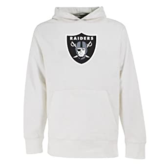 NFL Mens Oakland Raiders Signature Hooded Sweatshirt by Antigua