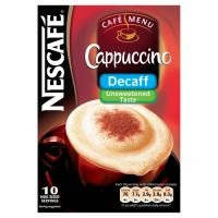 Nescafe Cappuccino Unsweetened & Decaffenated 2 box of 10 pks