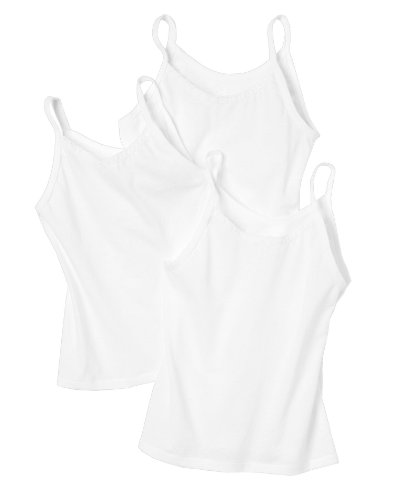 Hanes малыша девушки нижняя рубашка Pack 3 (белый…