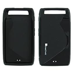 GreatShield Guardian S Series Slim-Fit SLine Design TPU Case for Motorola DROID RAZR MAXX (Solid Black)