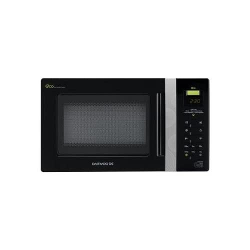 Daewoo KOR6AOR Digital ECO Microwave, 800 Watt, 20 Litre - Black Silver Handle