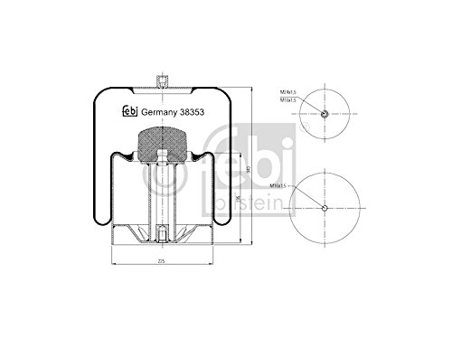 Febi Bilstein 38353 Boot, air suspension