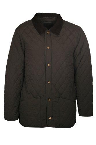 Men's Finn Quilted Jacket - Colour Khaki Size Medium