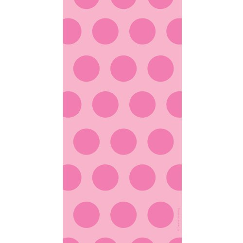 Candy Pink Dots Two-Tone Cello Bags