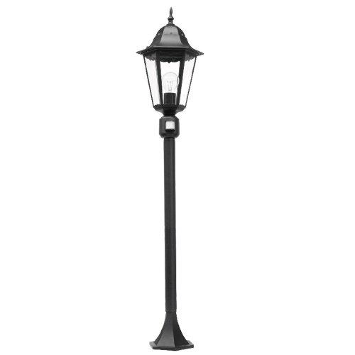 Klassische-1-flammige-Standleuchte-122-cm-hoch-in-schwarz-mit-Bewegungsmelder-fr-Leuchtmittel-E27-max-100W