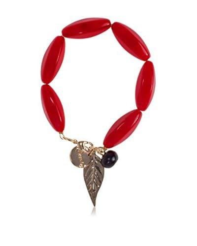 Desigual Halskette Pineapple rot