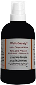 Watts Beauty Nourishing Raw All Natural Jojoba - Argan Oil Blend / 4 Oz Pump