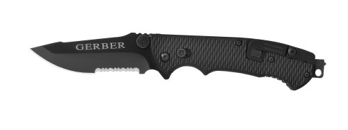 Gerber 22-41870 Hinderer Combat Life Saver Knife with Serrated Edge