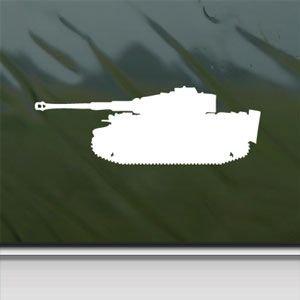 Tiger-Panzer German Wwii, colore: bianco, motivo: auto da parete, adesivo per Laptop Apple Macbook