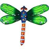 Green Metal Dragonfly - 11 Inches - Haiti