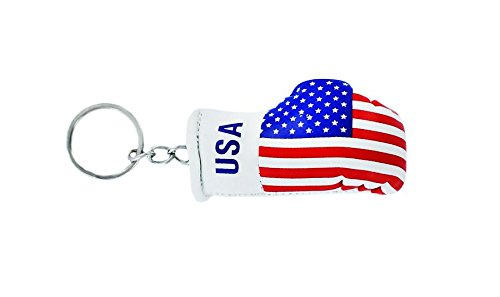 Porta chiavi Portachiavi Portachiavi, motivo: bandiera americana usa, guanto da boxe