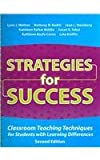 img - for Strategies for Success: Classroom Teaching Techniques for Students With Learning Differences book / textbook / text book
