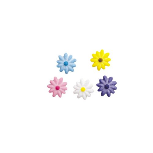 Small Daisies Sugar Decorations Cookie Cupcake Cake Easter Flowers 12 Count