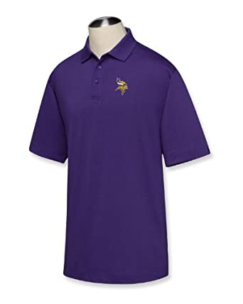 NFL Minnesota Vikings Mens B and T DryTec Championship Polo Shirt by Cutter & Buck