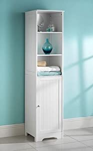 white bathroom tall boy cabinet kitchen home